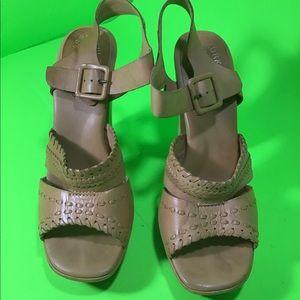 Kork - ease tan strap heels hi heels shoes